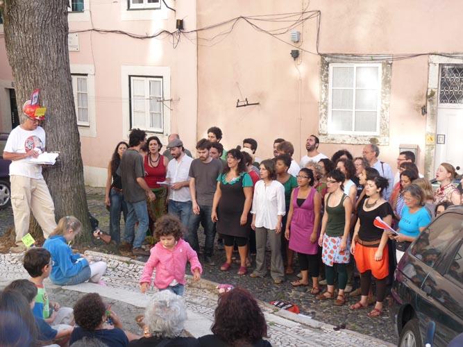 Coro da Achada no Largo da Achada - Feira da Achada, Julho 2011