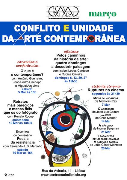 Conflito e Unidade da Arte Contemporânea - Janeiro 2016