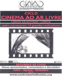 Ciclo Cinema ao Ar Livre